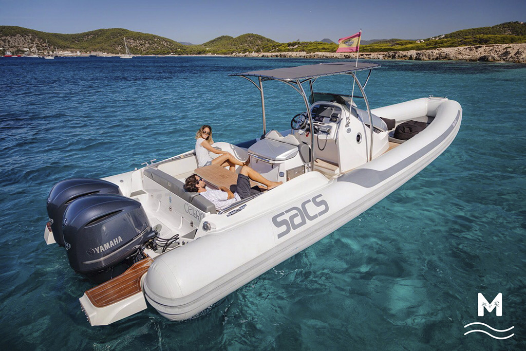 rent of semi-rigid boats in Ibiza SACS Strider 10