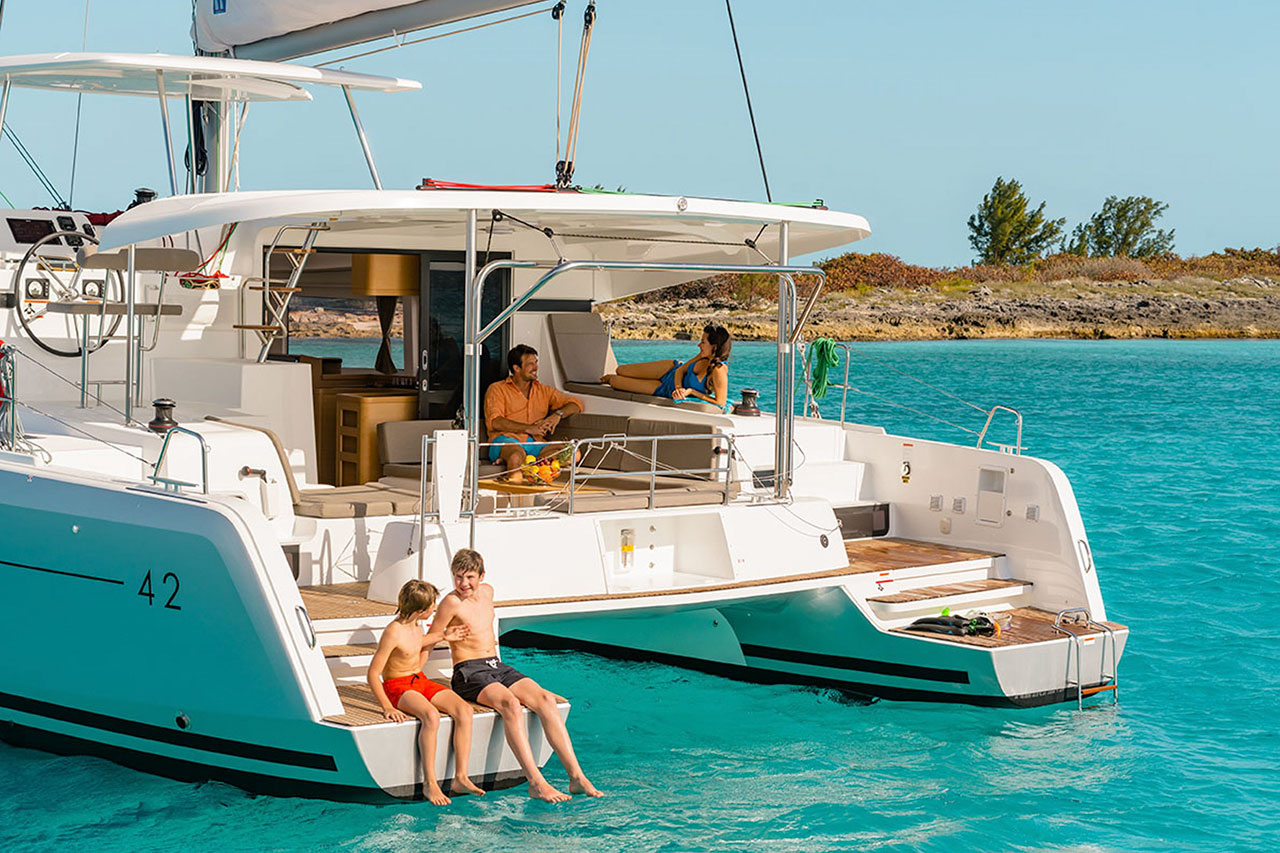 rent of catamaran lagoon 42 in Ibiza 5
