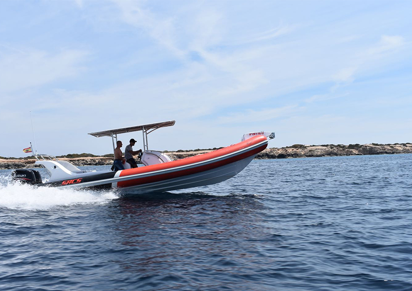 rent of semi-rigid boats in Ibiza SACS Samurai 2