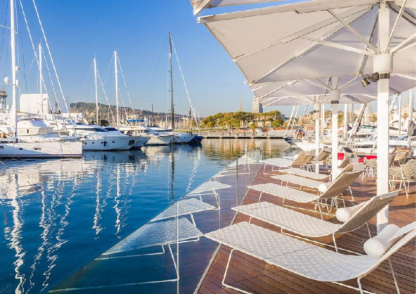Marina port vell in spain