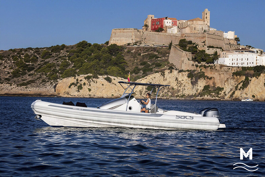 Sacs strider 10 rental boat semi-rigid in ibiza
