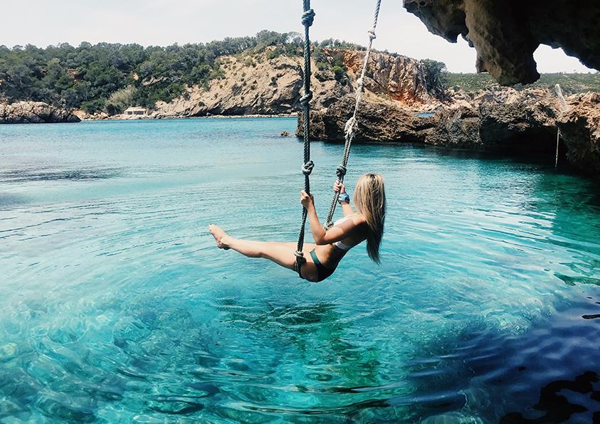 Cala Ibiza, Baleares. Boats experience